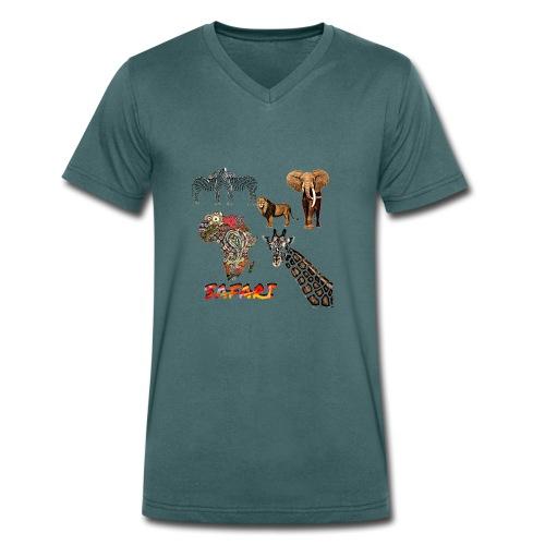 Safari africain - T-shirt bio col V Stanley & Stella Homme