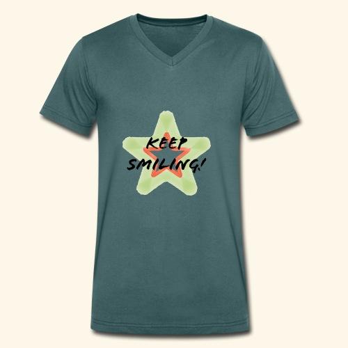 Lachen! - Männer Bio-T-Shirt mit V-Ausschnitt von Stanley & Stella