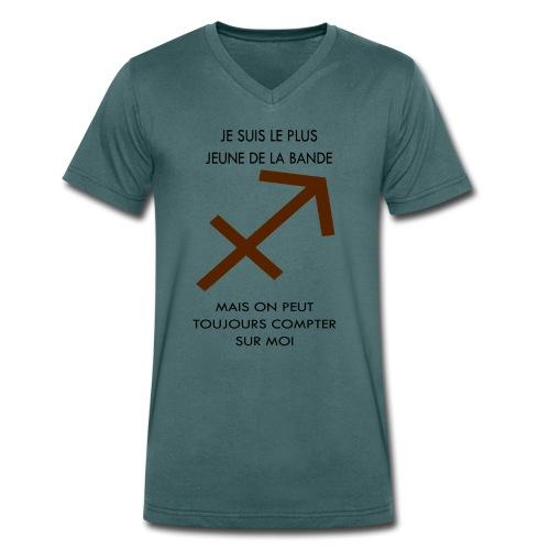 Sagittaire - je suis le plus jeune de la bande mai - T-shirt bio col V Stanley & Stella Homme