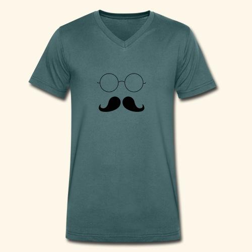 Moustachu - T-shirt bio col V Stanley & Stella Homme