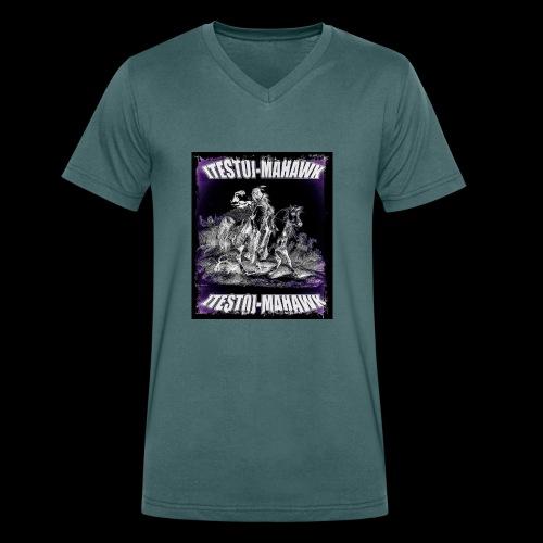 TESTO-MAHAWK Limited Testo-Edition - Männer Bio-T-Shirt mit V-Ausschnitt von Stanley & Stella