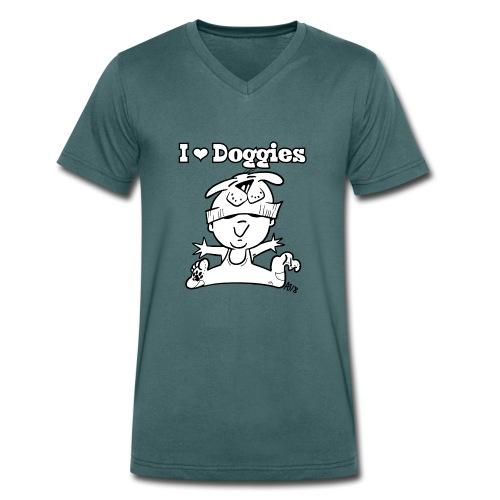 baby i love doggies - Mannen bio T-shirt met V-hals van Stanley & Stella
