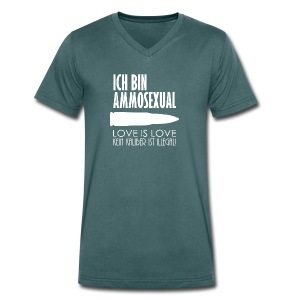 Ammosexual (weiß) - Männer Bio-T-Shirt mit V-Ausschnitt von Stanley & Stella