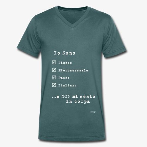 IDENTITAS Uomo - T-shirt ecologica da uomo con scollo a V di Stanley & Stella