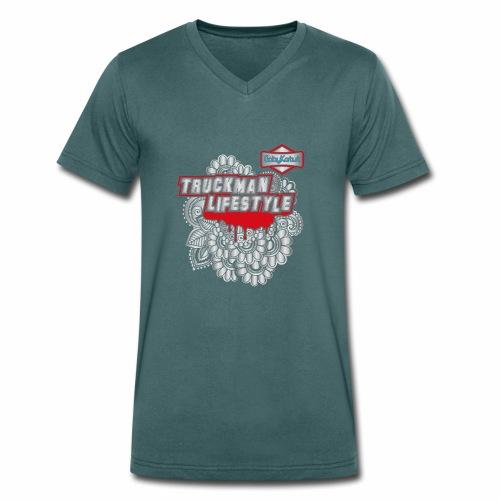 TruckMan LifeStyle - Men's Organic V-Neck T-Shirt by Stanley & Stella