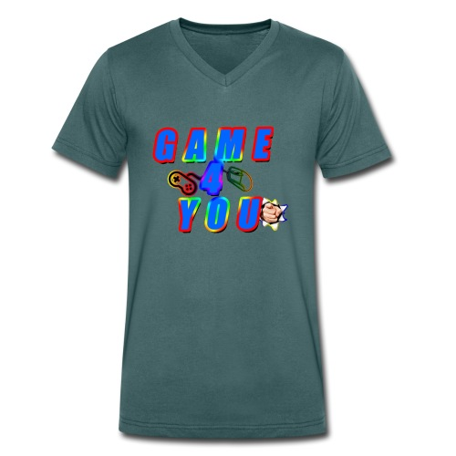 Game4You - Men's Organic V-Neck T-Shirt by Stanley & Stella
