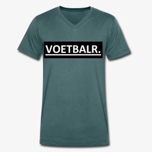VOETBALR. - Mannen bio T-shirt met V-hals van Stanley & Stella