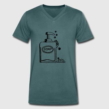 Sæbe, sæbe, sæbedispenser - Økologisk Stanley & Stella T-shirt med V-udskæring til herrer