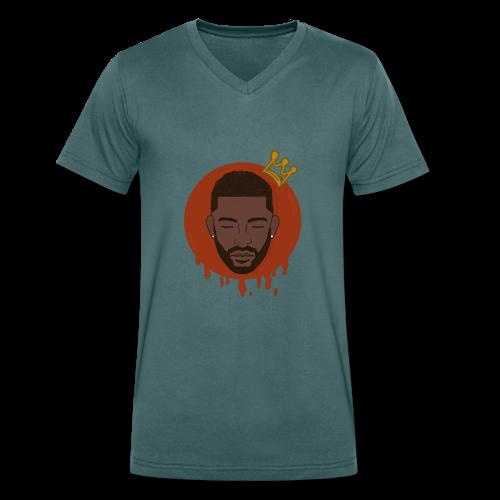 Black King - Mannen bio T-shirt met V-hals van Stanley & Stella