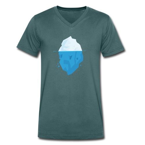 Iceberg - T-shirt ecologica da uomo con scollo a V di Stanley & Stella