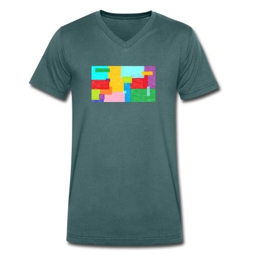 farbefrohe kunst - Männer Bio-T-Shirt mit V-Ausschnitt von Stanley & Stella