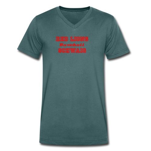 Schriftzug Classic Red - Männer Bio-T-Shirt mit V-Ausschnitt von Stanley & Stella