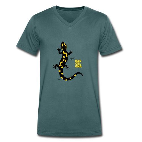 BCN sargantana - Camiseta ecológica hombre con cuello de pico de Stanley & Stella