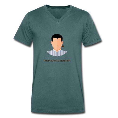 Frassati - Ekologiczna koszulka męska z dekoltem w serek Stanley & Stella