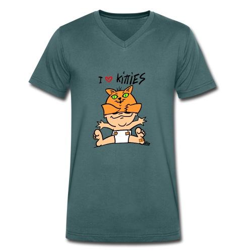 baby i love kitties color - Mannen bio T-shirt met V-hals van Stanley & Stella