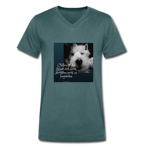 Chillen ist die Kunst - Männer Bio-T-Shirt mit V-Ausschnitt von Stanley & Stella