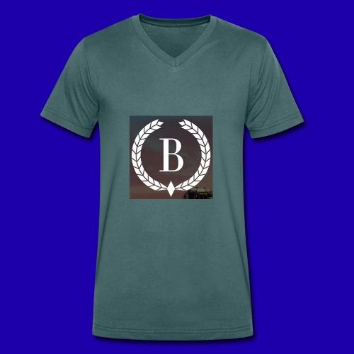 Brosherden - Økologisk T-skjorte med V-hals for menn fra Stanley & Stella