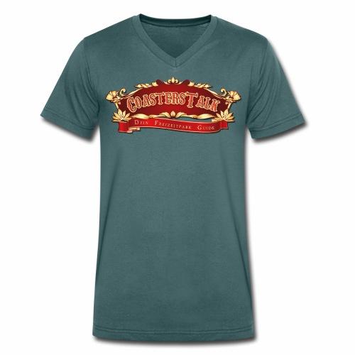 CoastersTalk Header transparent - Männer Bio-T-Shirt mit V-Ausschnitt von Stanley & Stella