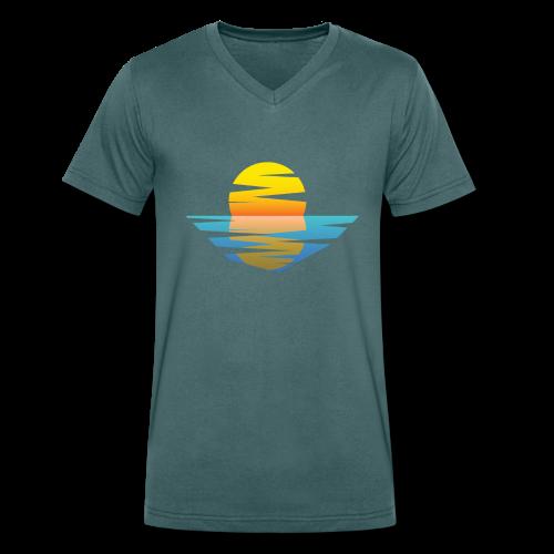 Sunset - Männer Bio-T-Shirt mit V-Ausschnitt von Stanley & Stella