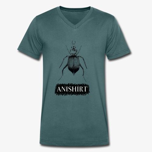 ANISHIRT Insect / Beetle / Tentyria Nomas - Men's Organic V-Neck T-Shirt by Stanley & Stella
