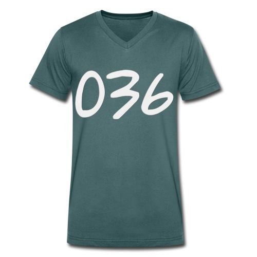 036 - Mannen bio T-shirt met V-hals van Stanley & Stella