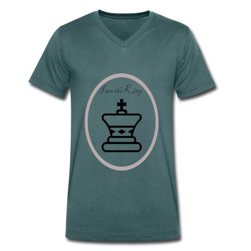 I am the King - Camiseta ecológica hombre con cuello de pico de Stanley & Stella