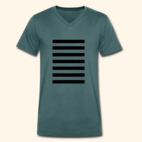 White Lands Streifen Muster - Männer Bio-T-Shirt mit V-Ausschnitt von Stanley & Stella