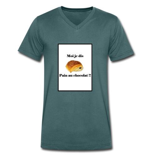 moi je dis pain au chocolat - T-shirt bio col V Stanley & Stella Homme