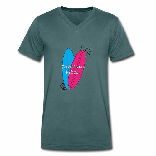 Tahitian vibes surf - T-shirt bio col V Stanley & Stella Homme