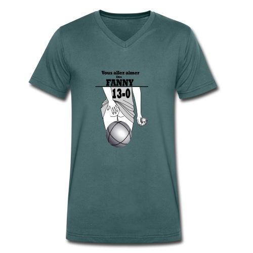 pétanque fanny fond clair - T-shirt bio col V Stanley & Stella Homme