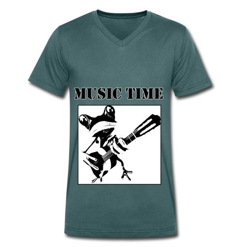 Music time - Männer Bio-T-Shirt mit V-Ausschnitt von Stanley & Stella