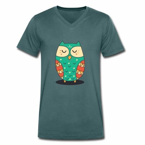 Cute Owl - Männer Bio-T-Shirt mit V-Ausschnitt von Stanley & Stella