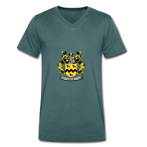 Carrick Family Crest - Men's Organic V-Neck T-Shirt by Stanley & Stella