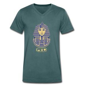 Tutanchamun (zweifarbig) - Männer Bio-T-Shirt mit V-Ausschnitt von Stanley & Stella