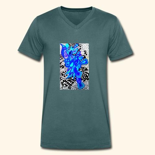 Kosmos - Ekologiczna koszulka męska z dekoltem w serek Stanley & Stella