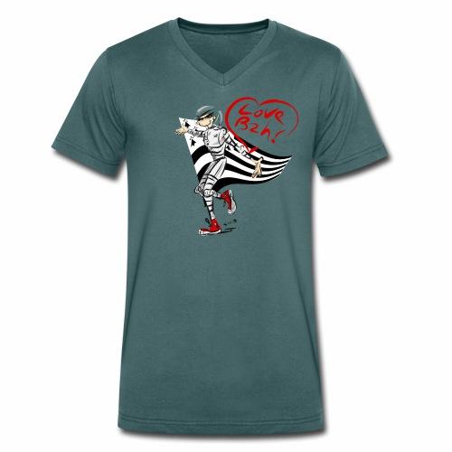 Glep Love BZH - T-shirt bio col V Stanley & Stella Homme