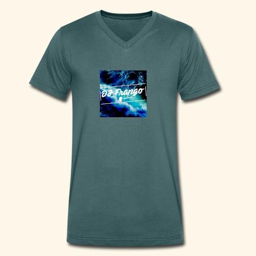 DJ Frango Updated Logo - Men's Organic V-Neck T-Shirt by Stanley & Stella