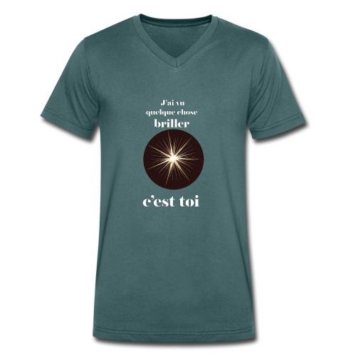 Lorgnette brillant ...amoureux ou inspiré FS - T-shirt bio col V Stanley & Stella Homme