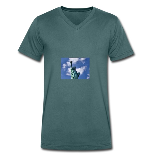 Freiheitsstatue - Männer Bio-T-Shirt mit V-Ausschnitt von Stanley & Stella
