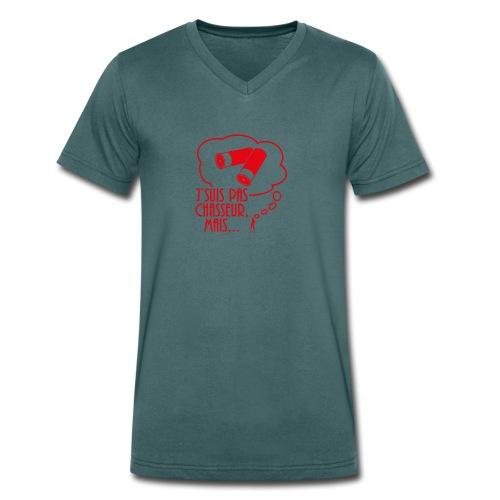 Je Suis Pas Chasseur Mais - T-shirt bio col V Stanley & Stella Homme