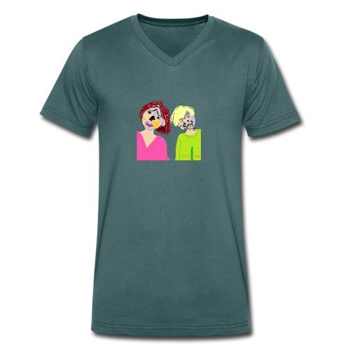 Thomz & Mishz tekening - Mannen bio T-shirt met V-hals van Stanley & Stella