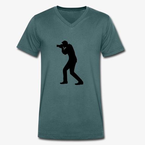 Fotograf - Männer Bio-T-Shirt mit V-Ausschnitt von Stanley & Stella