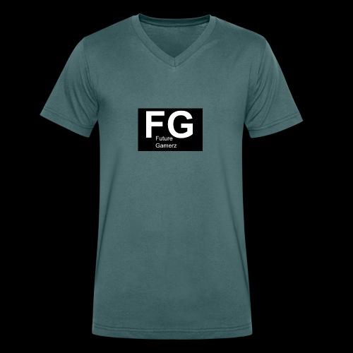 FG lofo boxed black boxed - Men's Organic V-Neck T-Shirt by Stanley & Stella