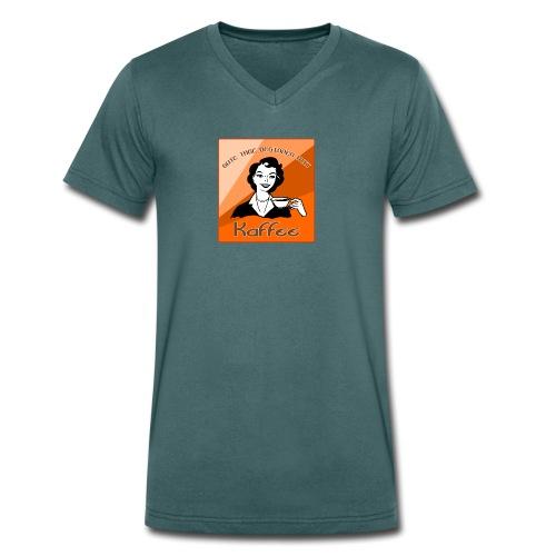 Gute Tage beginnen mit Kaffee - Männer Bio-T-Shirt mit V-Ausschnitt von Stanley & Stella