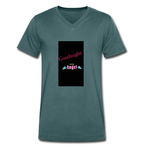 goodnight Angel Snapchat - Men's Organic V-Neck T-Shirt by Stanley & Stella
