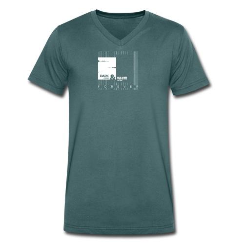 White & Dark - Männer Bio-T-Shirt mit V-Ausschnitt von Stanley & Stella