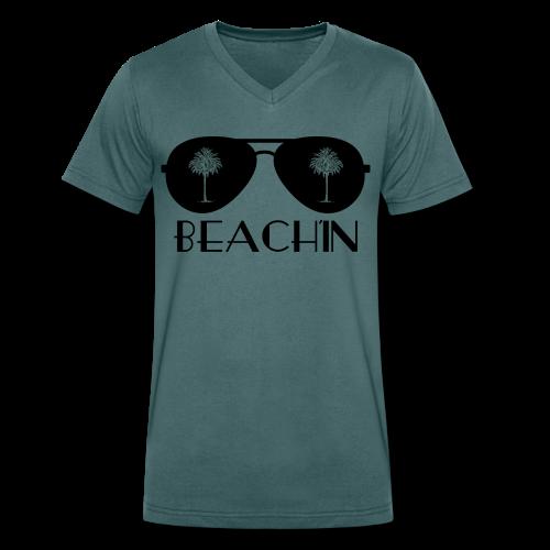 BEACH'IN - Beachlife - Männer Bio-T-Shirt mit V-Ausschnitt von Stanley & Stella