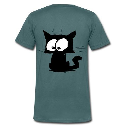 Black Cat 01 - T-shirt bio col V Stanley & Stella Homme