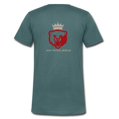 TB ROT/GRAU - Männer Bio-T-Shirt mit V-Ausschnitt von Stanley & Stella