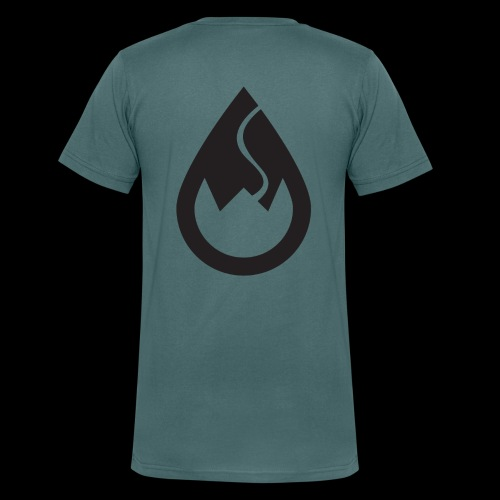 WSC-Logo schwarz - Männer Bio-T-Shirt mit V-Ausschnitt von Stanley & Stella